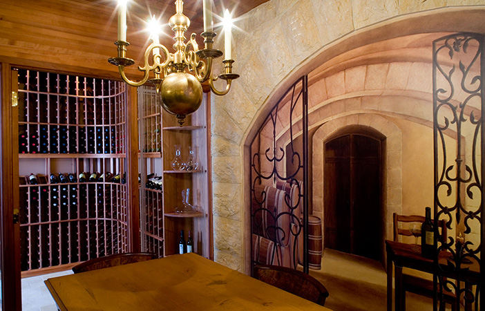 wine cellars interior design in westlake and cleveland ohio home