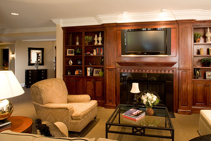 Family Rooms Interior Design in Westlake and Cleveland Ohio Home