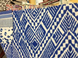 Blue & White Tribal Print